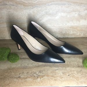 "Franco Sarto- black Tudor pump with 2.5"" heel NWOT"